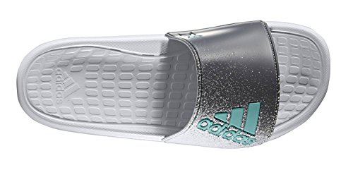 adidas Damen Badelatschen X17 slide W grau / blau CLEAR GREY/ENERGY BLUE/ONIX