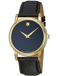 Movado 2100005 - Reloj para Hombres, Correa de Cuero Color Negro