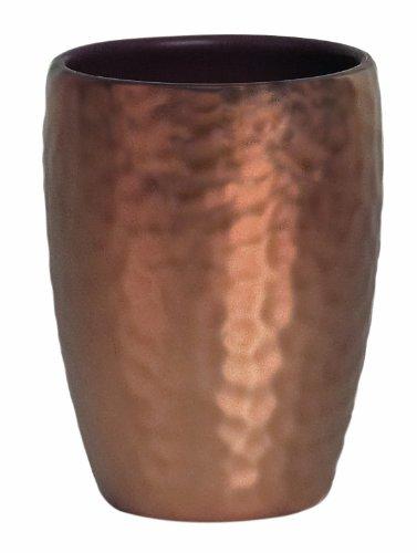 Spirella Zahnputzbecher Darwin, Keramik, Optik: geschlagenes Kupfer