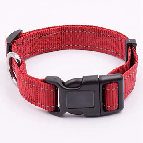 Paws Hund Anti Bark Halsband Nylon Komfortabel Für Kleine/Mittlere / Große Hunde,Rot,M -