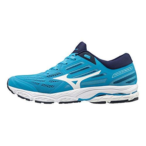 Mizuno Men Wave Stream 2 Neutral Running Shoe Running Shoes Blue - White 8