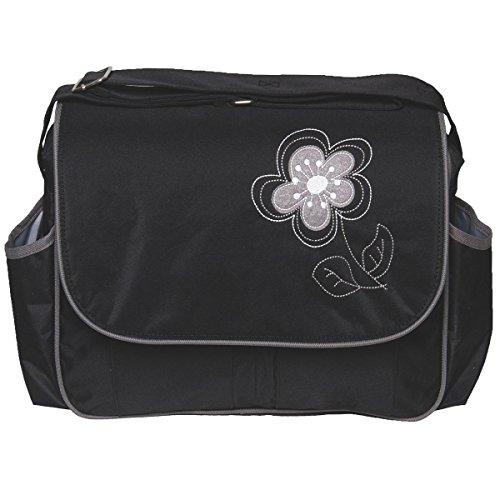 Wickeltasche VIOLA + Wickelauflage Pflegetasche Windel Baby Tasche Kinderwagen Buggy in 3 verschiedenen Farben (Schwarz)