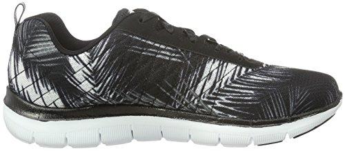 Skechers (SKEES) Flex Appeal 2.0-tropical Bree, baskets sportives femme noir (BKW)