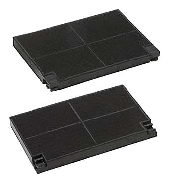 DREHFLEX® - Pack de 2 filtres de hotte à charbon pour AEG 5023298000-8 // EFF55