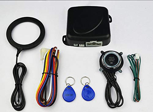 Preisvergleich Produktbild MYT Vans Auto 12V Universal RFID Auto Dark Lock Anti-Diebstahl Intelligentes EIN-Knopf-Startsystem Installation (schwarz)