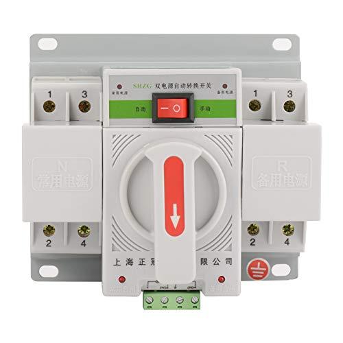 Automatischer Übertragungsschalter Mini Intelligenter Doppelelektronischer Leistungsschalter 220V 63A 2P