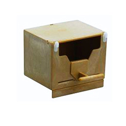 Nido a cassetta per uccelli esotici per interno ed esterno x gabbia o voliera