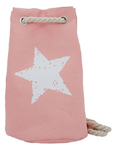 Duffel Bag Star apricot Damen Rucksack Backpack Beach Bag Strandtasche in 6 trendigen Farben !!TOP!! (Star Beach)