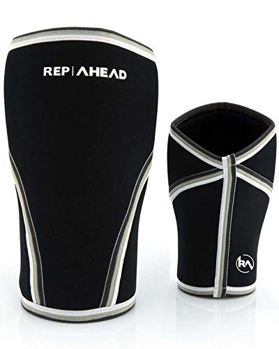 REP AHEAD Knee Sleeves 2.0 (Squats Killer) - 1 Paar, 7mm - Die Kniebandagen für Crossfit, Fitness, Krafttraining, Gewichtheben, Bodybuilding und Powerlifting (S)