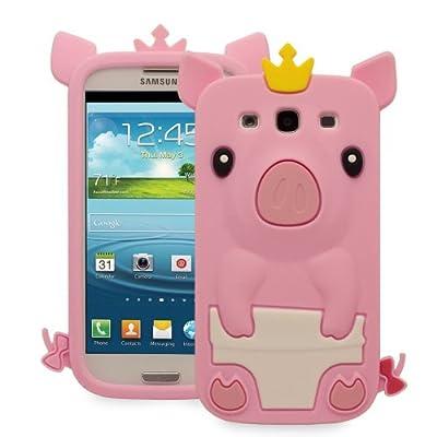 1x für Samsung Galaxy S3 i9300 Cute 3D Pig Schwein Silikon Schutz Hülle Tasche Cover Case Bumper Schale Etui Baby Pink Hell Rosa von Vandot auf Lampenhans.de