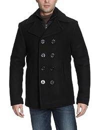 Schott NYC Men's Cyclone 2 Peacoat Reefer Long Sleeve Coat