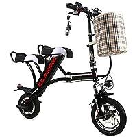 LETFF Bicicleta Eléctrica Plegable para Adultos, Asiento Doble De 12 Pulgadas, Velocidad 32 Km