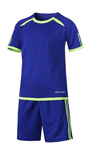 Welt Cuphigh Qualität Soccer Jersey Kinder Benutzerdefinierte Fußball Set Jungen Fußball Trikots Uniformen Jugend Kits Survêtement Fußball 2018, Blau, 30 (True Blue Kit)