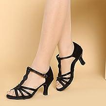Zapatos Latinos Profesionales De La Muchacha De Las Mujeres De Satén Superior Sandalias De Salsa / Zapatos De Baile De Salón Med (más Colores)