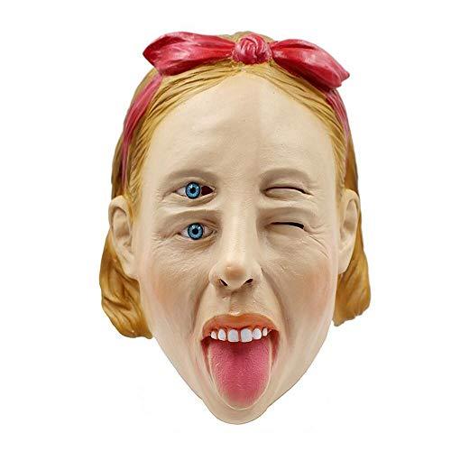 KOBWA Halloween Maske, Süßes oder Saures Maske Cosplay -