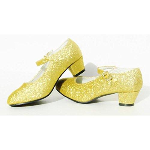 Scarpe grigie con paillettes argentate, per Flamenco e Tango, da ragazza/bambina/donna Doré Pailleté