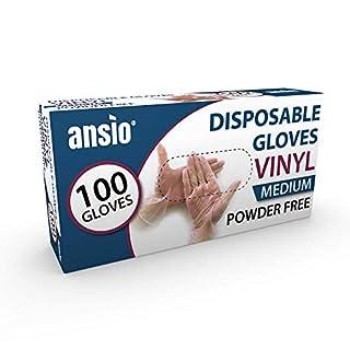 Disposable Gloves Medium Powder Free Vinyl Gloves Medium Size Pack Of 100