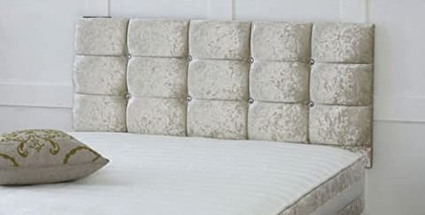 CRUSHED VELVET CONTEMPORARY HEADBOARD ALL SIZES AND COLOURS AVAILABLE HB09 (5ft King 26