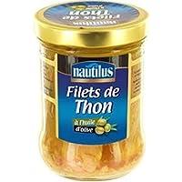 Nautilus Filets de thon à l'huile d'olive La boîte de 140g - Prix Unitaire - Livraison Gratuit Sous 3 Jours