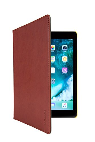 Gecko Covers - Apple iPad (2017) Hülle Easy-click - Braun - Multifunktionelle Tasche bietet Schutz und Multimedia-Komfort / Cover mit Präsentationsfunktion - Tablethülle geeignet für Apple iPad (2017) - Multimedia-tasche