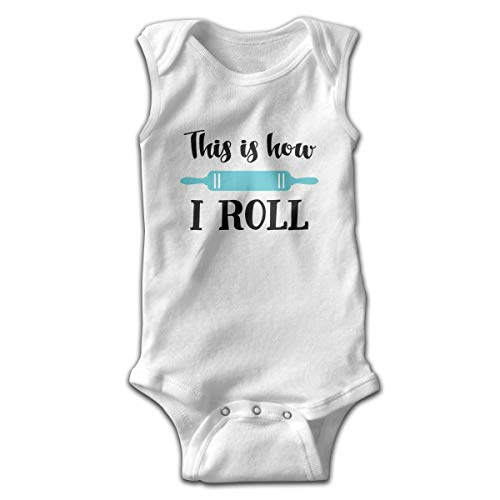 UYTGYUHIOJ Baby Sleeveless Bodysuits How I Roll Unisex Cute Lap Shoulder Onesies Rock Roll Baby Onesies