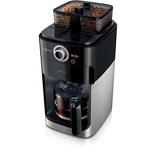 Philips Grind & Brew HD7769/00 - Cafetera (Independiente, Cafetera de filtro, 1,2 L, Molinillo integrado, 1000 W, Negro, Acero inoxidable)