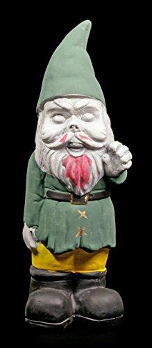 Zombie Gartenzwerg - Gnom grün - Zwerg Garten Figur Horror Deko Gartenfigur