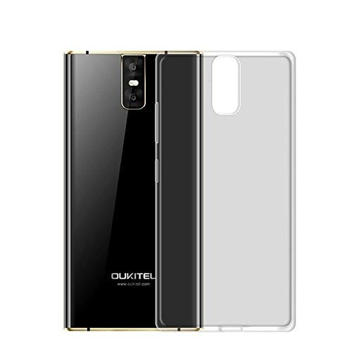 Easbuy Handy Hülle Soft Silikon Transparent Case Etui Tasche für Oukitel K3 Smartphone Cover Handytasche Handyhülle Schutzhülle (Transparent Grau)