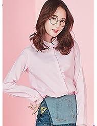 Manga larga camisa de primavera señoras breve animal de solapa de moda bordados camiseta versión coreana,XL,Rojo