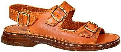 Sandalias Cómodas Ortopédica Hombre Zapatos de Cuero Real Búfalo Modelo-816