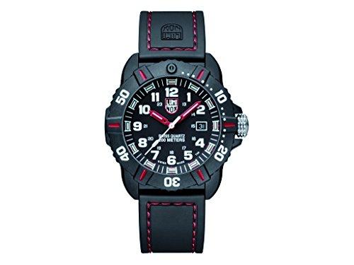 Luminox Coronado negro y rojo reloj para hombre