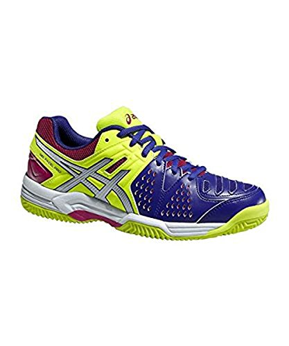 Asics Gel Padel Women's SG Pro 3 Mehrfarbig - Blue/Lime/Grey/Red