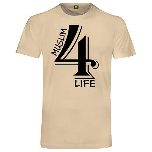 absenda Muslim 4 Life T-Shirt   Moslem   Islam   Allah   Muslima   Türkei Beige S