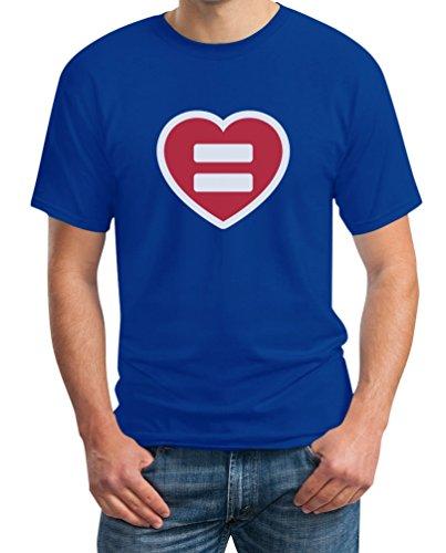 Ehe für Alle - Gleichstellungssymbol im Herz Design T-Shirt Blau