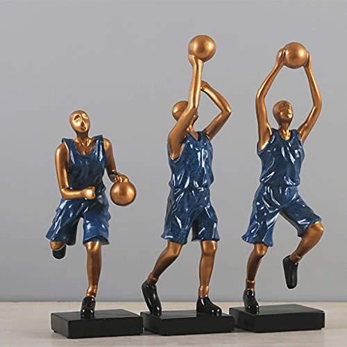 Bestehen Sie immer auf Erfolg Kreative Retro-Basketball-Sportfiguren einfache und Moderne europäische und amerikanische Studie Skulptur Dekoration Wohnzimmer Hauptdekorationen (Design : G)