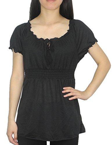 Designer Brand - T-shirt - Femme Noir - Noir