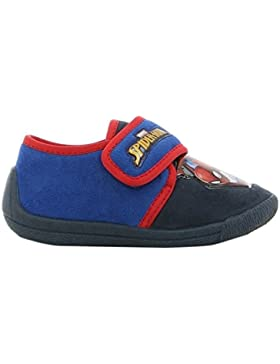 Spiderman Boys Kids Houseshoes Velcro Low, Zapatillas de Estar por casa para Niños