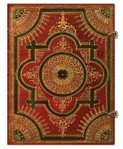 Carnet Ultra PAPERBLANKS série Ventaglio Baroque modèle Ventaglio Rosso Papier Ligné- format : 180x230mm - 144 pages- PBLPB16786