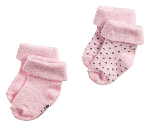 Noppies Baby - Mädchen Socken G Socks 2Pck Noisia, Rosa (Light Rose C092), Neugeboren (Herstellergröße: 0M-3M) (Baby-socken Neugeborene)