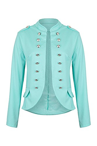 Mr.Shine - Massimo Military Blazer slim fit - Gr. (L, Mint) (Mint Blazer)