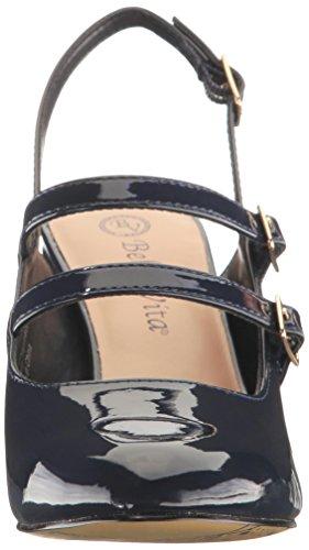 Sandale Slingback Nessaii Vita Breit Synthetik Rund Bella Navy xqPzUBw8