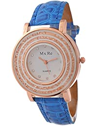 KMS Analogue White Dial Women's Watch - Blue_Mxre_2RoundStone