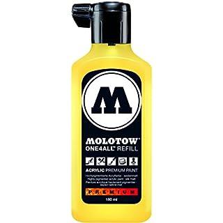 Molotow ONE4ALL Refill (Nachfülltinte für Permanentmarker, 180 ml) 1 Stück zinkgelb