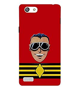 Takkloo man laughing ( red background, man wearing goggle, black goggle, kaala chashma) Printed Designer Back Case Cover for Oppo Neo 5 :: Oppo A31 :: Oppo Neo 5S 2015