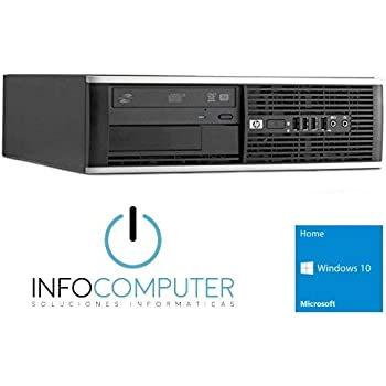 Infocomputer Hp Elite 8300 SFF-Ordenador de sobremesa (Intel Core I7-3770, 3400MHz 8GB de Ram, Disco HDD de 500GB, Lector DVD, Windows10 HOME 64 ES ...