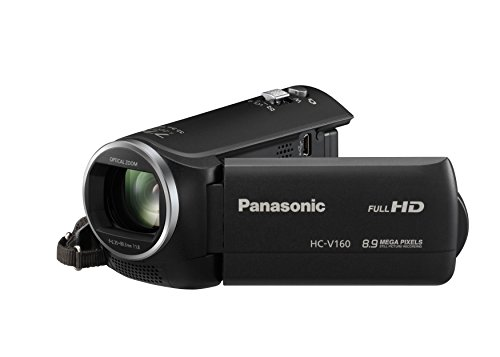 Panasonic HC-V160EG-K Full HD Camcorder ( 38x opt. Zoom, 2,2 MP, 6,7 cm großes LC-Display, elektr. Bildstabilisator) schwarz