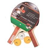 Spokey Tischtennis Standard Set (2xSchläger, 3xBall, 1,8mm Schwamm)