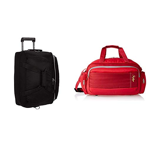 Skybags Cardiff Polyester 52 cms Black Travel Duffle + Cardiff Polyester 55...