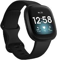 Fitbit Versa 3 - Gesundheits- & Fitness-Smartwatch mit GPS, kontinuierlicher Herzfrequenzmessung, Sprachas