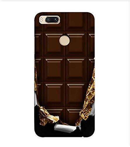 OBOkart Chocolate design 3D Hard Polycarbonate (Plastic) Designer Back Case Cover for Xiaomi Mi A1